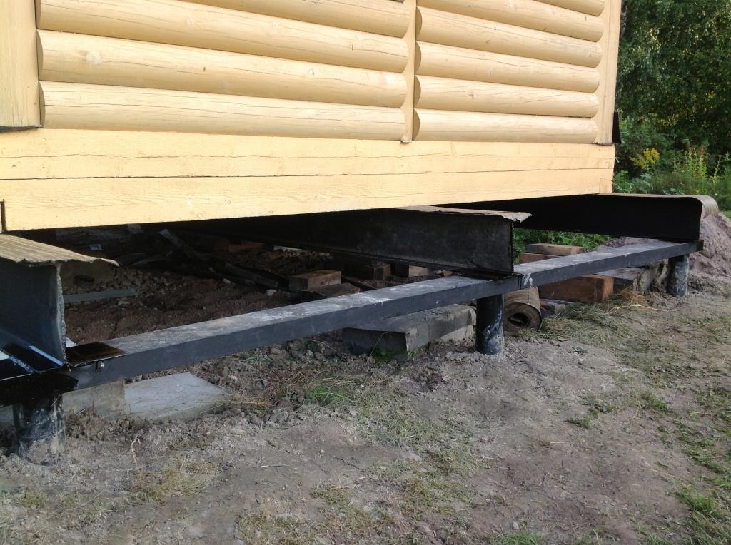 Строительство дома из дров своими руками 50